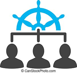 Management icon from Business Bicolor Set. Vector style:...