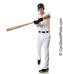 Baseball Player - Young adult baseball player Studio shot...