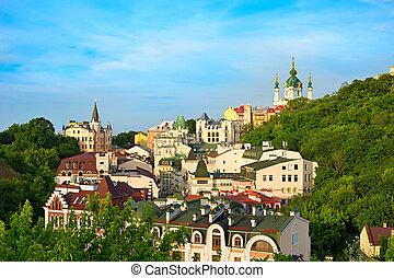 Andreevsky descent, Kiev, Ukraine - Andriyivskyy Descent in...