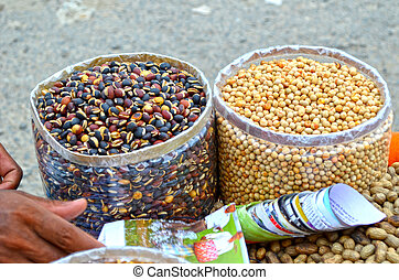 Close up of Dry fruits and Peanuts