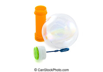 Bubble fun - Toy for making bubbles isolated over white