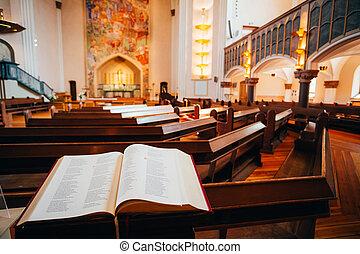 Interior Of Sofia Kyrka - Sofia Church - In Stockholm,...