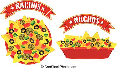 supreme cheese nachos tray - Supreme cheese mexican nachos...