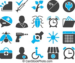 Medical bicolor icons - Medical icon set. Style: bicolor...