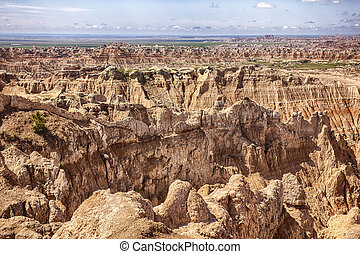 Pinnacles Viewpoint At South Dakota Badlands - A view of the...