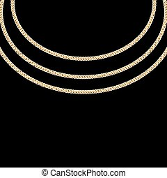 Gold Chain Jewelry. Vector Illustration. EPS10