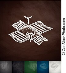 intersection icon. Hand drawn vector illustration....