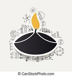 Drawing business formulas: lamp