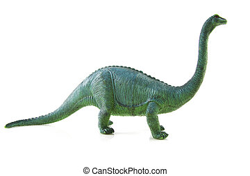 The great dino - huge dinosaur isolated on a white...