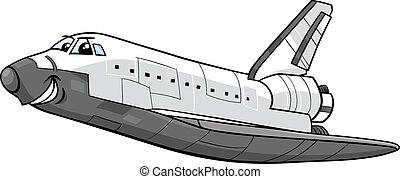 space shuttle cartoon illustration - Cartoon Illustration of...