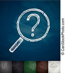 question mark icon. Hand drawn vector illustration....