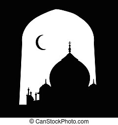 taj mahal vector silhouette - taj mahal black and white...