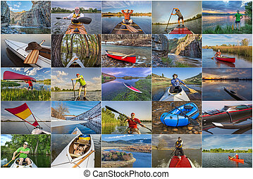 collection of paddling pictures from Colorado featuring...