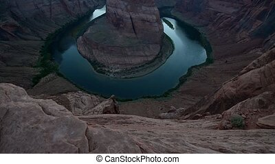 Horseshoe Bend slow upward - Horseshoe Bend meander of the...