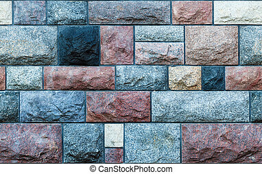 Seamless stone blocks wall - Seamless texture of a wall made...