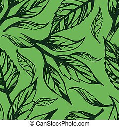Seamless floral pattern - Vector seamless floral pattern,...