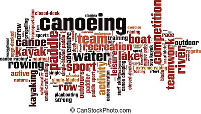 Canoeing [Converted].eps - Canoeing word cloud concept....