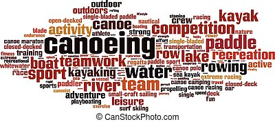 Canoeing-horizon [Converted].eps - Canoeing word cloud...