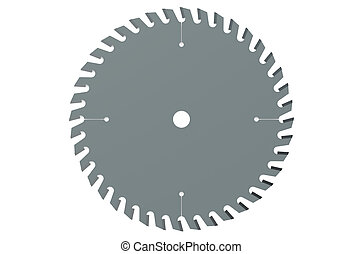 circular saw blade closeup isolated on white background