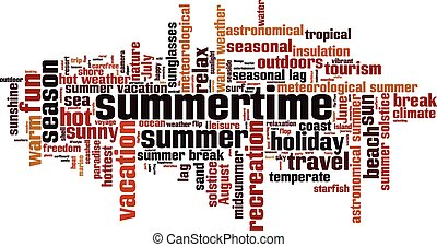 Summertime [Converted].eps - Summertime word cloud concept....