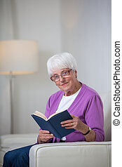 Portrait of a senior woman at home