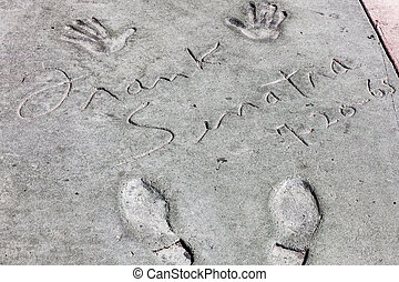 Sinatra footsteps - Frank Sinatra at Hall of fame, Hollywood