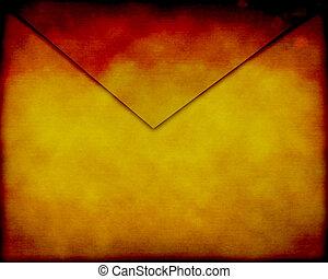 Old paper envelope