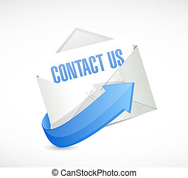 contact us mail sign concept illustration design graphic