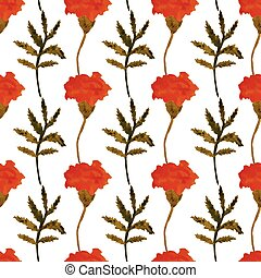 Seamless watercolor floral pattern. - Seamless vector floral...