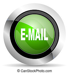 email icon, green button