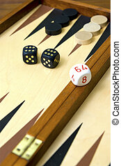 Backgammon with black dice
