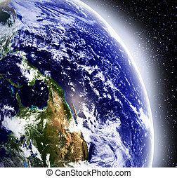 Earth in space - Earth as seen from outer space