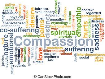 compasión, Plano de fondo, concepto,