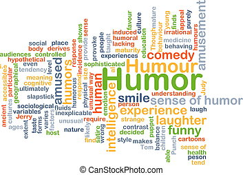 Humor background concept - Background concept wordcloud...