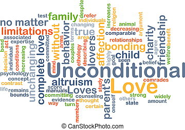 Unconditional love background concept - Background concept...