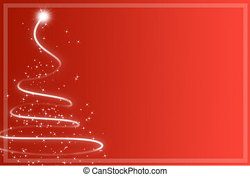 Abstract red christmas tree
