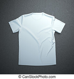 White t-shirt on the concrete background