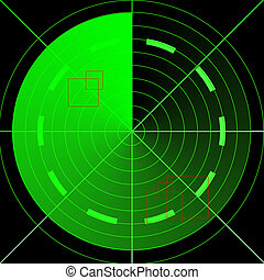 green radar - Green empty radar screen