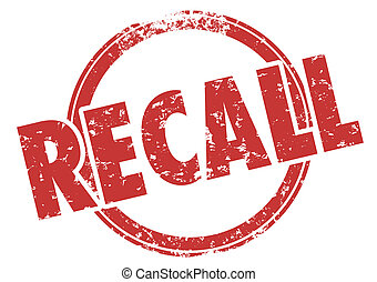 Recall Word Red Stamp Defective Product Fix Repair - Recall...