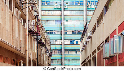 Old Industrial buidings in Hong Kong, Asia - Old Industrial...