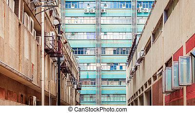 Old Industrial buidings in Hong Kong, Asia - Old Industrial...