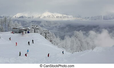 Rosa Khutor Alpine Resort - Sochi, Russia - February 11,...