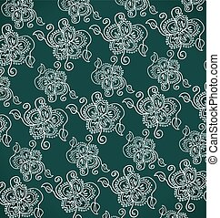 white decorative flower - Pattern from white decorative...