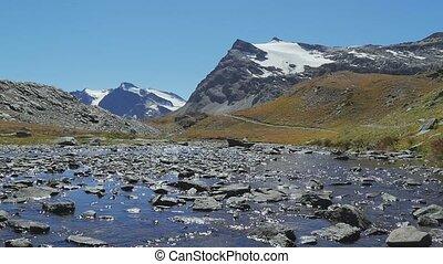 alpine landscape in summer - beautiful alpine panorama in a...
