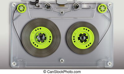 CG Audio cassette playing. - Audio Tape Animation. Contains...