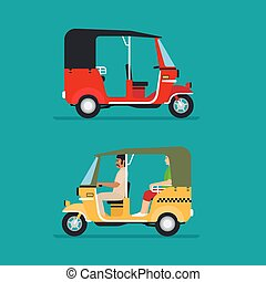Asian auto rickshaw taxi - Asian auto rickshaw or baby taxi...