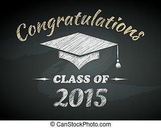 cartel, clase, graduación