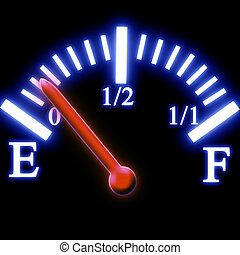 fuel tank - Almost empty fuel tank meter