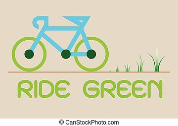 Bicycle ride for Green Eco Vector, illustration