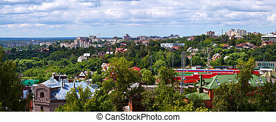 Panorama of Vladimir - Summer view of old district of...